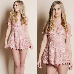 Pants - Crochet Pink Romper
